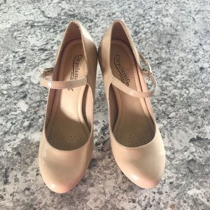 Nude Mary-Jane Style Pumps